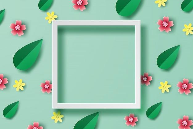 Lugar de quadro de fundo de primavera para texto
