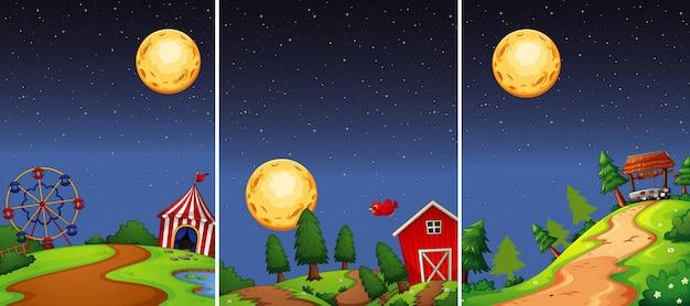 Lugar diferente nas cenas noturnas