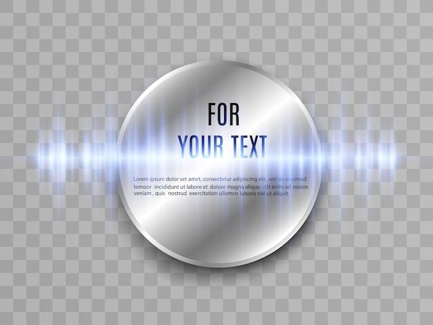 Lugar para texto. banner redondo.
