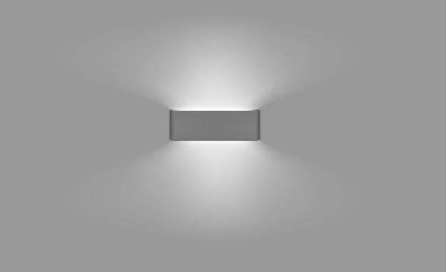 Luminária de parede com luz indireta. luz noturna interior moderna. maquete de vetor