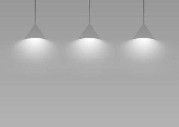 Luminária pendente em cinza