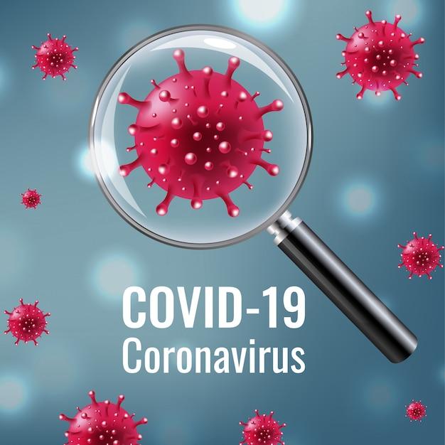 Lupa com coronavirus covid 19