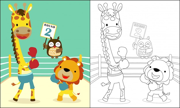 Luta de boxe engraçada com animais fofos