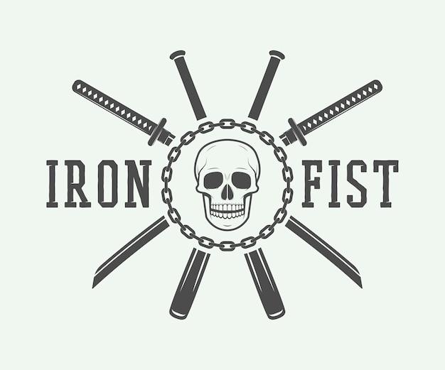 Luta de logotipo, emblema, distintivo