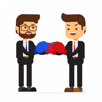 Luta de parceiro de negócios ou colega