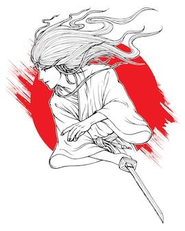 Luta de samurai