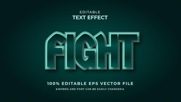 Luta efeito de texto editável premium