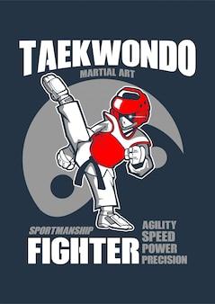 Lutador de engrenagem de taekwondo