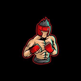 Lutador lutador clube de luta boxe treinamento punho de caratê forte ginásio