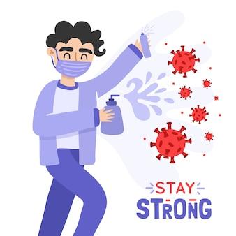 Lute contra o tema do vírus