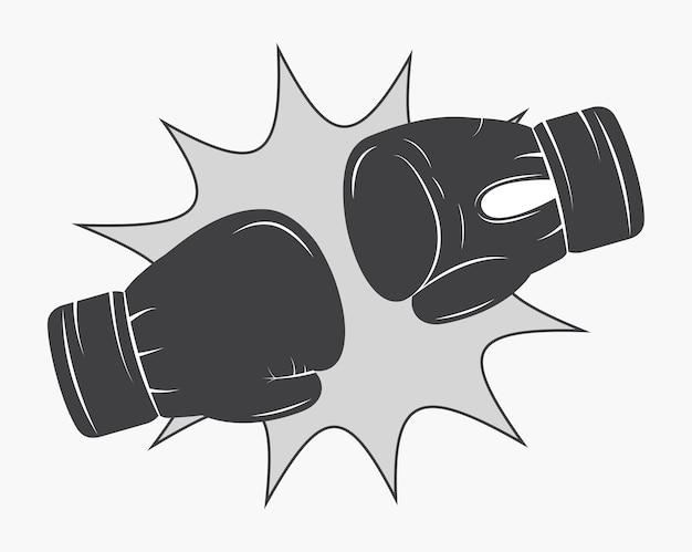 Luva de boxe ícone de treinamento esportivo