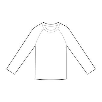 Luva longa camisetas