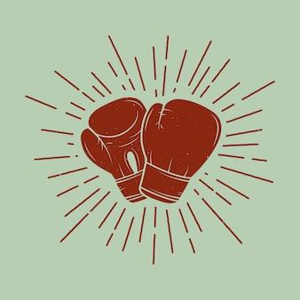 Luvas de boxe em estilo vintage.
