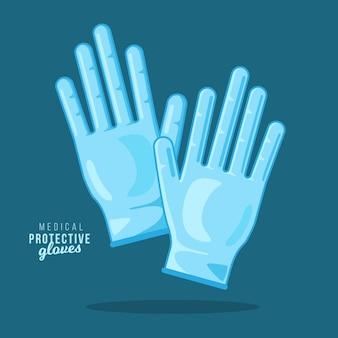 Luvas de proteção médica