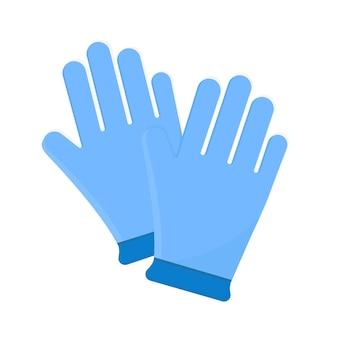 Luvas médicas azuis de proteção