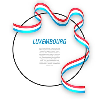 Luxemburgo 3d com bandeira nacional.