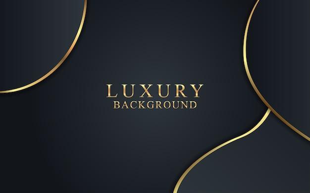 Luxo abstrato com elemento dourado.