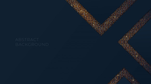 Luxo abstrato com quadrados de glitter dourados, modelo para vip cartão de visita, panfleto, convite, site. ilustração de papel de parede dourado.