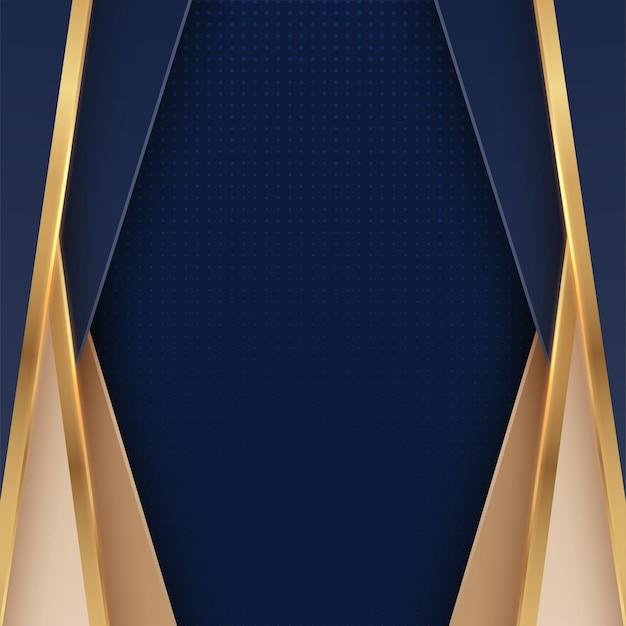 Luxo abstrato dourado e azul escuro