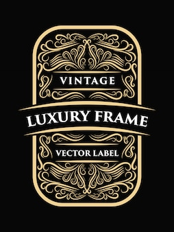 Luxo caligrafia decorativa vintage moldura design ocidental etiqueta tipografia