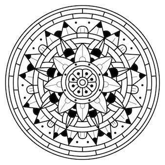 Luxo criativo de ilustração de mandala