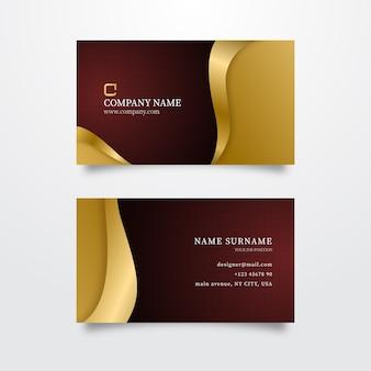 Luxo de cartão de visita de modelo