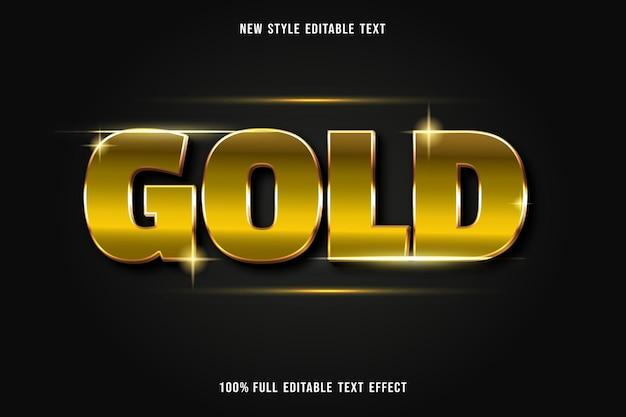 Luxo de estilo de efeito de texto editável dourado