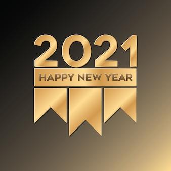 Luxo de ouro feliz ano novo