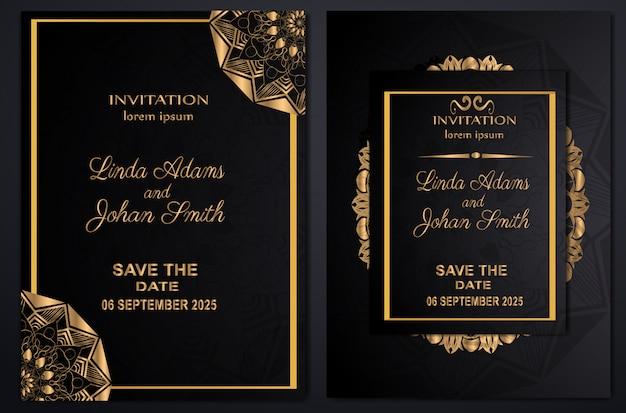 Luxo do casamento do convite