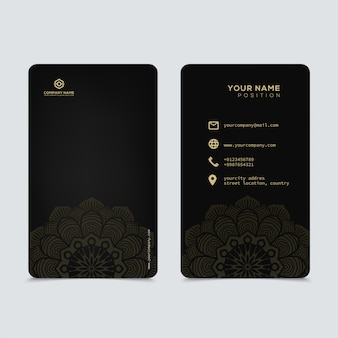 Luxo e elegante modelo de cartões de visita de ouro preto