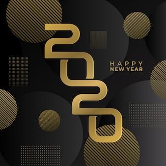 Luxo feliz ano novo de 2020.