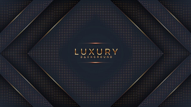 Luxo fundo preto com uma combinação brilhante dourado pontos com estilo 3d.