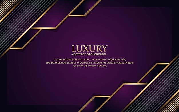 Luxo fundo roxo escuro com forma geométrica e listra dourada