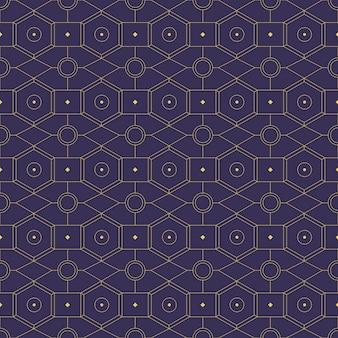 Luxo geométrico sem costura padrão fundo papel de parede em estilo batik