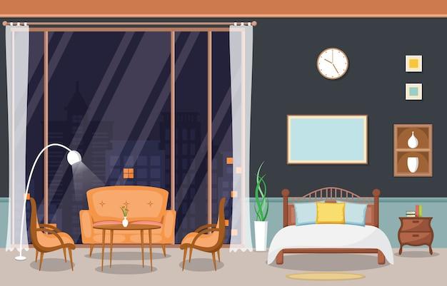 Luxo luxo sala penthouse apartamento interior móveis