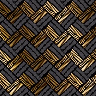Luxo, mão, desenhado, seamless, padrão