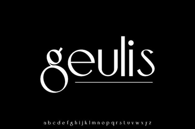 Luxo moderno conjunto de letras minúsculas