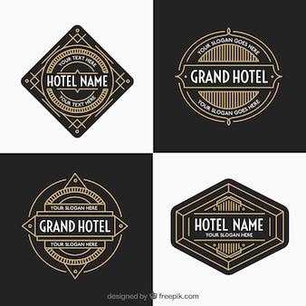Luxo pacote hotéis golden logos