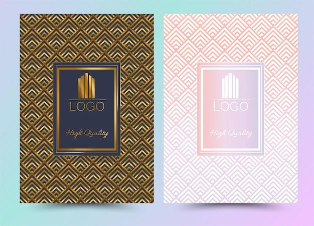 Luxo premium cover menu design geometric