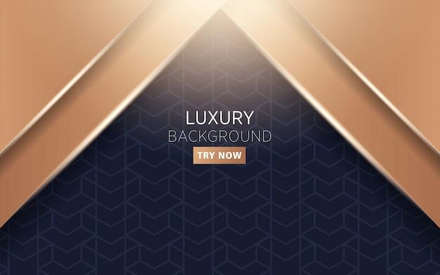 Luxo premium escuro e ouro abstrato moderno