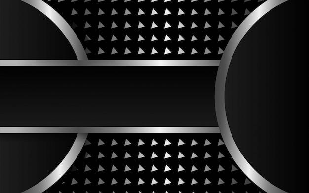 Luxo premium fundo abstrato escuro do vetor. sobreposição de camadas com efeito de papel. modelo digital. efeito de luz realista sobre fundo prateado triangular texturizado.
