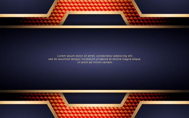 Luxo roxo escuro abstrato com faixa dourada