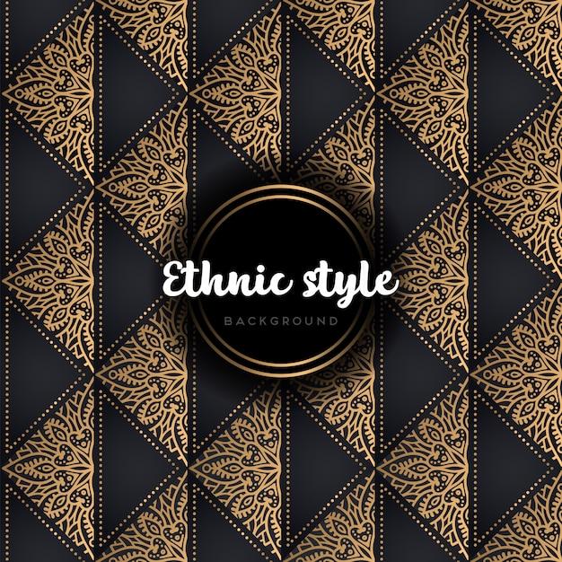 Luxo sem costura padrão de vetor ouro e preto