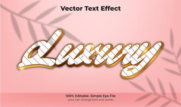 Luxo textura efeito de texto