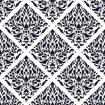 Luxo tradicional batik sem costura padrão fundo papel de parede em amostras de cores