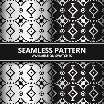 Luxo tradicional batik tribal sem costura padrão fundo papel de parede em amostras de cores