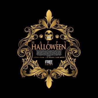 Luxo vintage de halloween