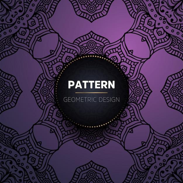 Luxo vintage padrão sem costura mandala