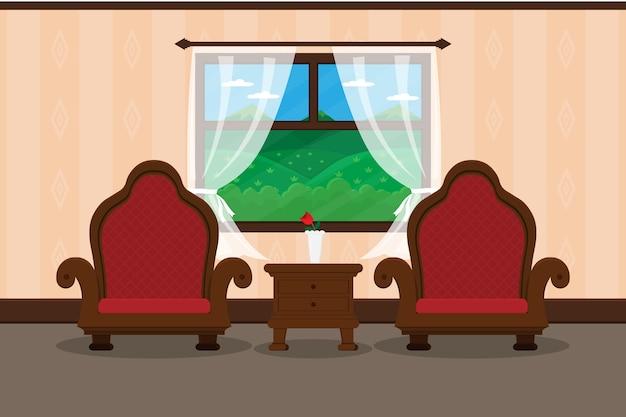 Luxuosa sala de estar de luxo