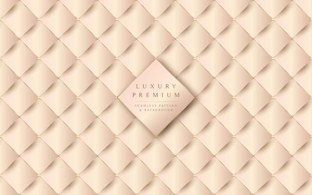 Luxuosa textura de couro bege e fundo padrão sem emenda